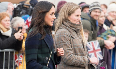 Meghan Markle bersama Amy Pickerill (dok. Hello Magazine)